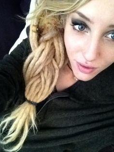 blonde dread braid