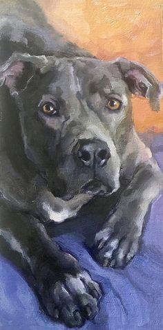 Daily Paintworks - - Original Fine Art for Sale - © Katya Minkina Wildlife Paintings, Animal Paintings, Animal Drawings, Drawing Animals, Bull Painting, Dog Artwork, Cute Canvas, Art Prompts, Cat Drawing