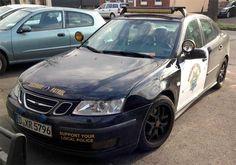 Saab Police Car For