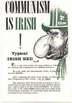 Communism is Irish Cold War Propaganda, Communist Propaganda, World History, Family History, Ireland Pubs, Red Scare, Power Tattoo, Past Tense, Communism