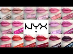 NYX SOFT MATTE LIP CREAM REVIEW / LIVE LIP SWATCHES - YouTube