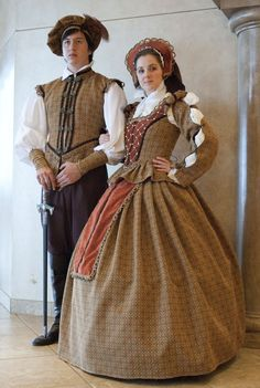 Tan+Handbeaded+Tudor+Renaissance+Elizabethan+Court+by+MattiOnline,+$420.00