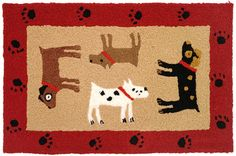 Cute doggie rug for all Dog Lovers ... Woof Woof