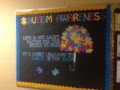 Autism Awareness  April Bulletin Board Res Life Education  Special Education Teacher