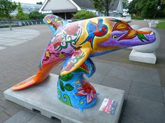Wild Dolphins Aberdeen - Inky Blooms - Duthie Park.