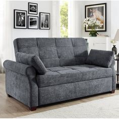 Luxury Gray Queen Size Pull Out Sleeper Futon Sofa Bed Lounger Convertible Couch for sale online Queen Size Sofa Bed, Pull Out Sofa Bed, Grey Sofa Bed, Walmart, Convertible Bed, Bed Dimensions, Best Sofa, Bed Sizes, Home Furniture