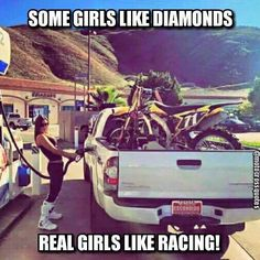 Mhmm I thought of racing 😂 Motocross Outfits, Motocross Quotes, Dirt Bike Quotes, Motocross Girls, Dirt Bike Girl, Road Racing, Lady Biker, Biker Girl, Quad Bike