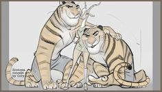 A fun #Zootopia draw-over of Gazelle & Tiger-Dancers by Art-Director-of-Characters, the amazing @CoryLoftis #disney
