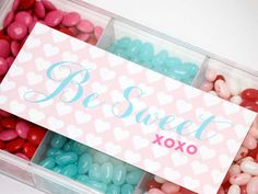 Beautiful Valentine's Day printables +15% discount to shop at www.ohnuts.com | www.assweetasitgets.com