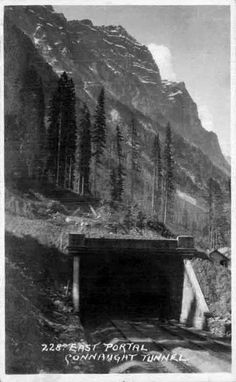 The Connaught Tunnel under the Selkirk Mountains in southeastern British Columbia near the city of Revelstoke replac. Canadian Pacific Railway, What A Wonderful World, History Facts, British Columbia, Wonders Of The World, Portal, Around The Worlds, Mountains, City