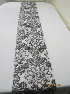 Cheap Table Runners, Lace Table Runners, Damask Wedding, Elegant Wedding, White Runners, Table Overlays, Silver Table, White Pumpkins, Flocking
