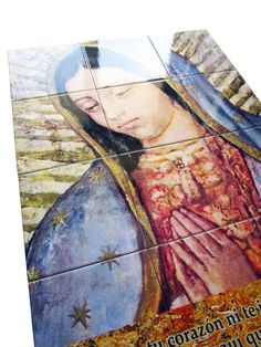 Religious wall art - The Virgin of Guadalupe - mosaic, tile mural, religious wall decor indoor outdoor use - Big size - Virgin Mary message