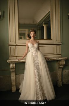 Beaded Lace & Tulle Ballgown (In Stores Only)