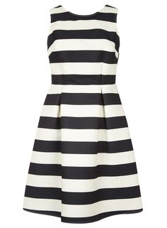 Luxe Black Stripe Structured Dress - Dorothy Perkins