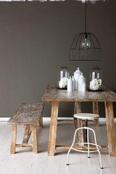 - Black wire lampshade, Koskela - Lanterns, ici et là - 'La Vie en Blanc' jars, Coco Republic -...