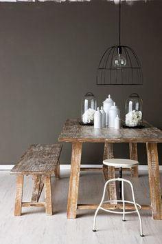 French By Design: Industrial Chic I think this is the shade of grey to match beechy brown. Taupe- grey.