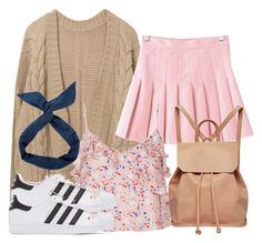 """""""Caroline Inspired Outfit"""" by fangsandfashion ❤ liked on Polyvore featuring Topshop, Urban Originals and adidas Originals"""
