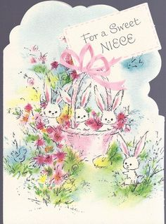 E1 Vintage 60's Rust Craft Easter Greeting Card by jarysstuff, $3.00