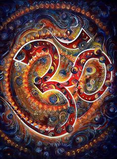 ૐ OM ૐ ૐ AUM ૐ Chakra Contemporáneo Original. AUM Chakra Contemporary Original Painting Name of by sadashivarts Shiva, Karma Yoga, Art Visionnaire, Om Art, Om Symbol, Visionary Art, Psychedelic Art, Fractal Art, Third Eye