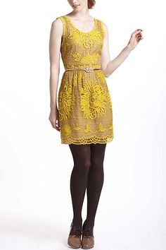 Honeycomb Lace Dress #anthropologie