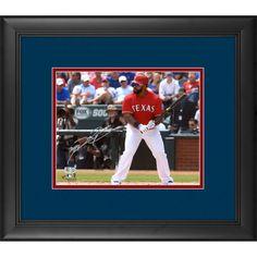 "Prince Fielder Texas Rangers Fanatics Authentic Framed Autographed 8"" x 10"" Pre-Swing Photograph - $199.99"