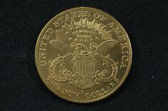 Numismática: Moeda Americana, Ouro, 20 Dolares, Ano 1898, Peso 32g, Diâmetro 34 mm, Flor de Cunho.