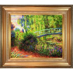 Claude Monet The Japanese Bridge Hand Painted Framed Art