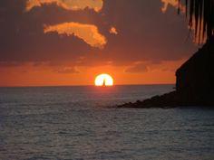 Sunset at the Seashore on Pinel Island, St. Martin