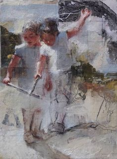 "Saatchi Art Artist Pilar Lopez Baez; Painting, ""El ser que me acompaña"" #art"