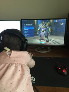 When your 1 and a half year old niece runs in your room demanding she say hi to every character on overwatch you best ablige.