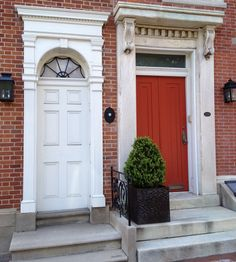 Door inspiration: Philadelphia, Society Hill. Historic Doors and Entrances