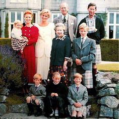 Prince Charles gave the Balmoral Tartan a new twist in 1990 when he used it to fashion a sling for his arm in this family portrait. The Prince of Wales became injured when he fell from his horse during a polo match in June. Prince Harry, Prince William and Peter Phillips are also seen here in kilts fashioned from the Balmoral Tartan. Sarah The Duchess of York, Diana The Pricess of Wales, Philip The Duke of Edinburgh, Charles The Prince of Wales and Queen Elizabeth II.