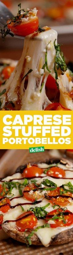 Caprese Stuffed Mushrooms  - Delish.com