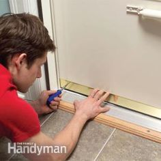 Stop drafts and save energy by adjusting the bottom sweep on your exterior doors. It usually takes less than five minutes. Maybe at halftime. Home Improvement Projects, Home Projects, Energy Projects, Screen Door Repair, Screen Doors, Front Doors, Door Sweep, Home Fix, Diy Home Repair