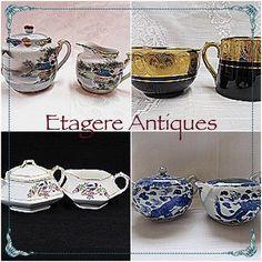 #vintage #creamer #sugar sets. #porcelain #collectible #vintagekitchen #gotvintage #shopsmall #shoponline #shopvintage #etagereantiques