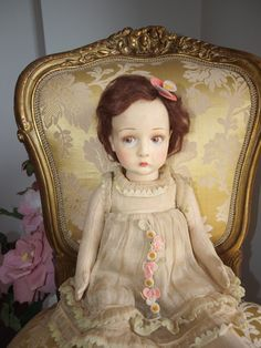 1930s Antique Rare Sweet Pouty LENCI Child Doll 19 inch in Dolls & Bears, Dolls, Clothing & Accessories, Antique Dolls | eBay