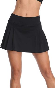029869198 Amazon.com: Women's Pleated Elastic Quick-Drying Tennis Skirt with Shorts  Running Skort