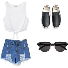 Untitled #2 by just-addict on Polyvore featuring Monki, Vans and Yves Saint Laurent