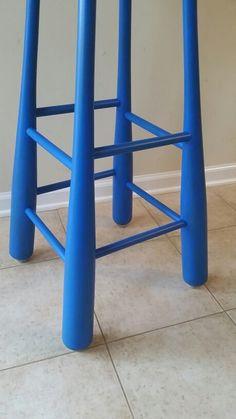 Handmade, one-of-a-kind Chicago Cubs baseball bat bar stool