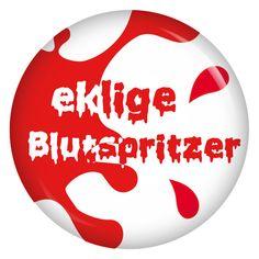 kiwikatze Button Kostümersatz eklige Blutspritzer