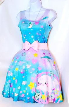 Lolita Ocean Bubble Dress sold by RuruVictoria. Shop more products from RuruVictoria on Storenvy, the home of independent small businesses all over the world. Kawaii Dress, Kawaii Clothes, Harajuku Fashion, Kawaii Fashion, Girl Outfits, Cute Outfits, Fashion Outfits, Barbie, Pastel Outfit