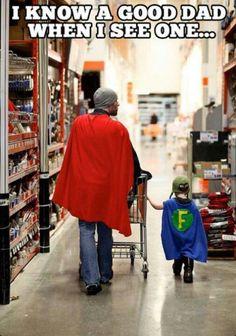 Superhero dad and son :)