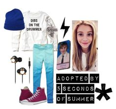 """""""adopted by 5 seconds of summer"""" by simplyjustjulia ❤ liked on Polyvore featuring Hollister Co., Converse, malo and Samsung"""