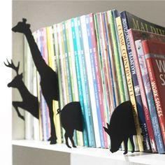 Séparateur de livres en feutre (par 2) Animal index PA Design