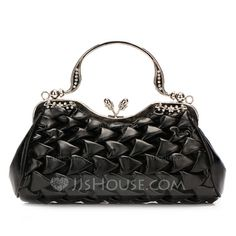 Handbags - $36.99 - Gorgeous Faux Leather With Rhinestone Clutches (012028126) http://jjshouse.com/Gorgeous-Faux-Leather-With-Rhinestone-Clutches-012028126-g28126
