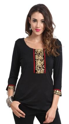 Black color designer #Kurti