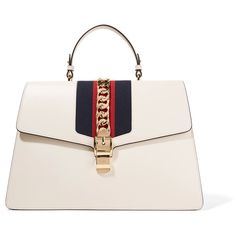 Gucci Sylvie large chain-embellished leather tote (€4.070) ❤ liked on Polyvore featuring bags, handbags, tote bags, gucci, totes, chain, embellished, white, white tote bag and handbags totes