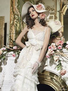 romantic ethereal wedding dress | The Romantic Vintage line is inspired by the 1930s. Girly yet elegant ...