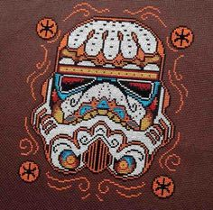Cross stitch, star wars, Dia de los Muertos