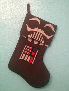 Star Wars Darth Vader Holiday Christmas Stocking. $25.00, via Etsy.
